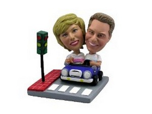 Drive-Out Date Couple Custom Bobble Head | Gift Ideas For Couples