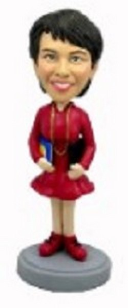 #1 Teacher (Female) custom bobblehead doll