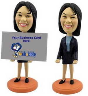 Custom Bobble Head Business Card Holder - Women Personalized Bobble Head | Gifts For Women