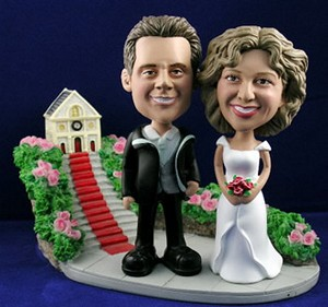 Sporty Wedding couples 1 personalized bobblehead doll