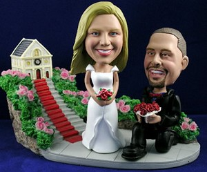 Will You Marry Me? Set Of Personalized Bobble Head | Gift ideas for weddings