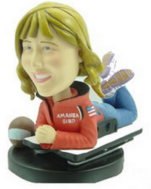 Sporting women personalized bobblehead doll