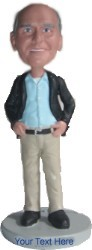 Business Casual With Jacket And Hands On Sides Custom Bobble Head | Gift Ideas For Men