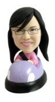Custom Bobble Head Girl In Bumper Car | Gifts For Women