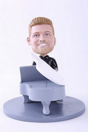 Male Piano Player Personalized Bobble Head | Gift Ideas For Men