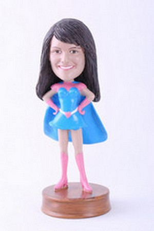 Super girl 6 custom bobblehead doll Premium