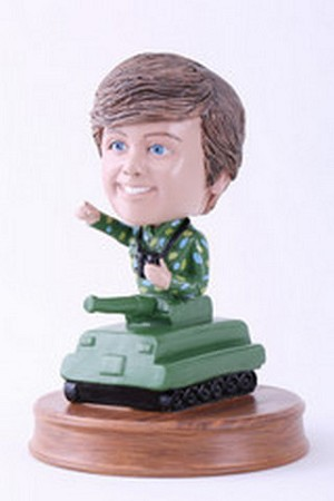 Army Soldier inside a tank personalized bobblehead doll