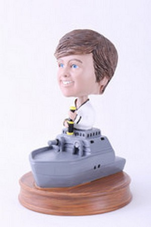 Sailor in Navy ship custom bobblehead doll