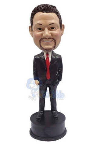 Hand in Pocket custom bobblehead doll