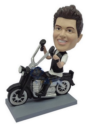 Male Sitting On A Motorcycle Custom Bobble Head 5 | Gift Ideas For Men