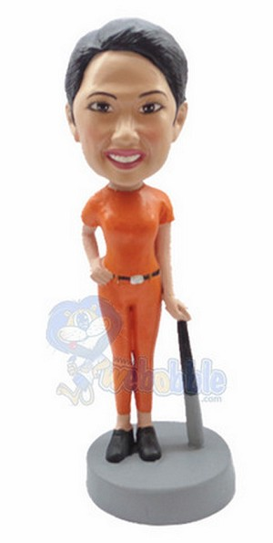 Baseball Gal Batter custom bobblehead 3