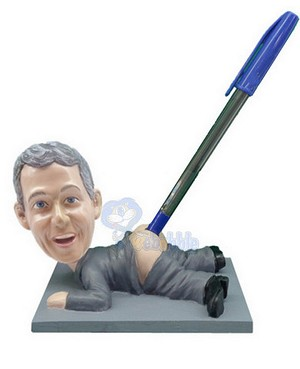 "Pen Holder - - - Custom ""Butt Pen Holder"" Bobble Head 