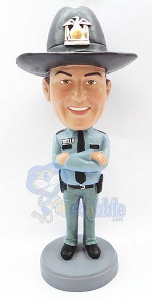 State trooper personalized bobblehead doll