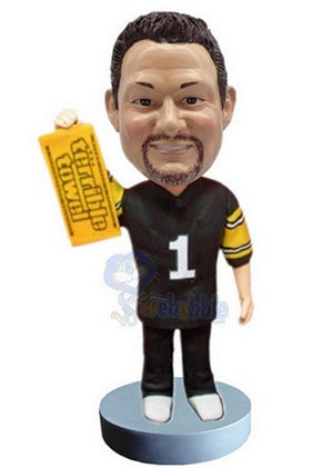 Football Custom Bobble Head With Towel | Gift Ideas For Men