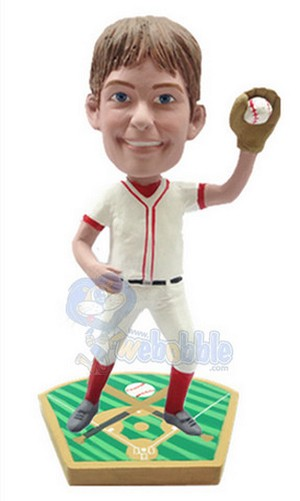 Baseball Fielder Custom Bobble Head | Gift Ideas For Men