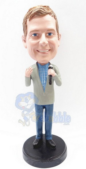 Singing Male Custom Bobble Head Premium 2 | Gift Ideas For Men