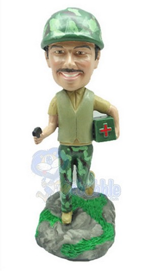 Soldier Medic Personalized Bobble Head | Gift Ideas For Men