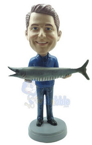 Man With Fish Custom Bobble Head 6 | Gift Ideas For Men