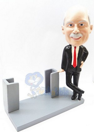 Business Card Holder - Male personalized bobblehead doll