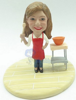 Custom Bobble Head Female Chef In The Kitchen Premium | Gifts For Women