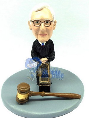 Judge male with a chair and gavel custom bobblehead doll Premium