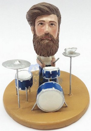 Male drummer custom bobblehead doll Premium