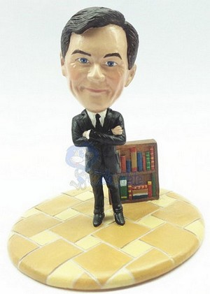 Male Business Man With Book Case Custom Bobble Head Premium | Gift Ideas For Men