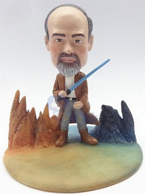 Male Jedi Custom Bobble Head Premium | Gift Ideas For Men