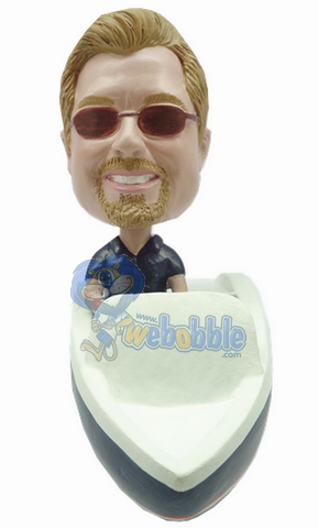 Man in boat custom bobblehead doll Premium