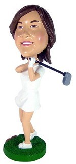 Golfing Lady Custom Bobble Head (Bobbing )