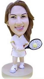 Tennis Girl Custom Bobble Head (Bobbing )