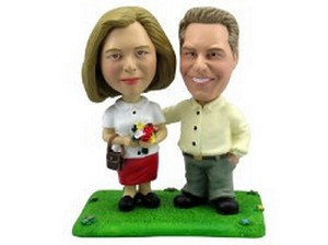 Happy couple personalized bobblehead doll