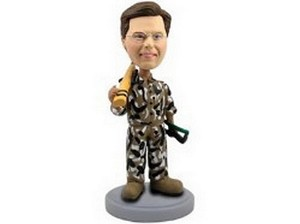 Hunter With Gun And Case Custom Bobble Head | Gift Ideas For Men