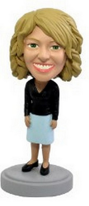 Office worker Nice Dress custom bobblehead doll
