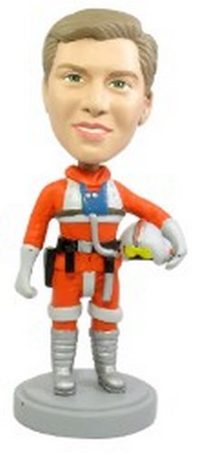 Male Pilot Suit Bobble Head | Gift Ideas For Men