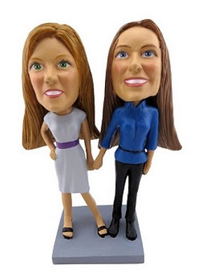Same Sex Couple Custom Bobble Head 1 | Gift Ideas For Couples