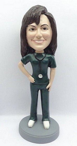 Female Nurse / Doctor custom bobblehead doll   (4)