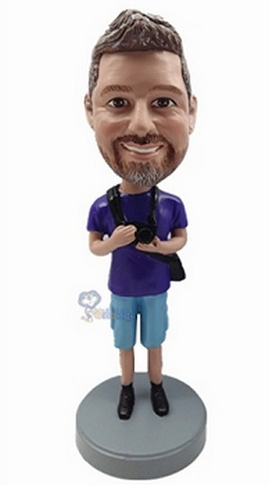 Camera Man Custom Bobble Head 2 | Gift Ideas For Men