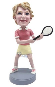 Custom Bobble Head Tennis Lady 2 | Gifts For Women