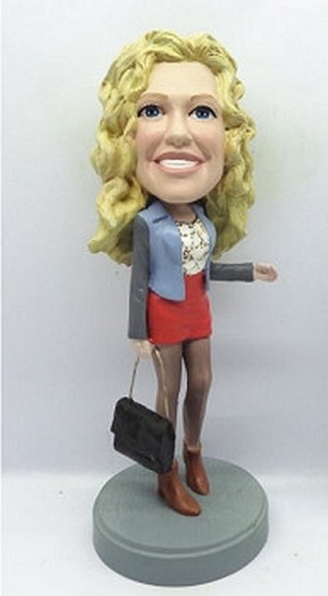 Custom bobble head Shopping Girl 2 | Gifts for women