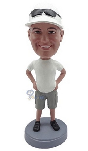 Man in shorts custom bobblehead doll 2 (bobbing doll)
