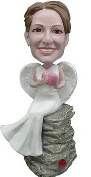 Angel custom bobblehead doll