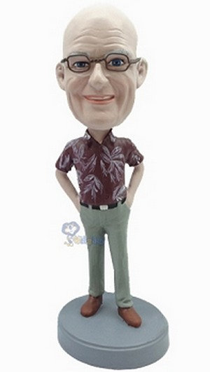 Casual Male in jeans custom bobblehead doll 4