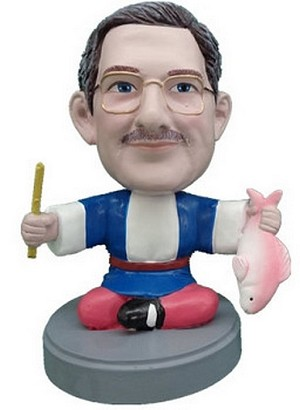 Sushi man custom bobblehead doll