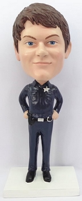 Police Man Personalized Bobble Head 2 | Gift Ideas For Men