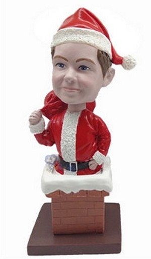 Santa with chimney custom bobblehead Premium (bobbing doll)