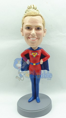 Super Girl custom bobblehead doll