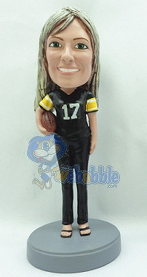 Custom Bobble Head Female Football Player | Gifts For Women