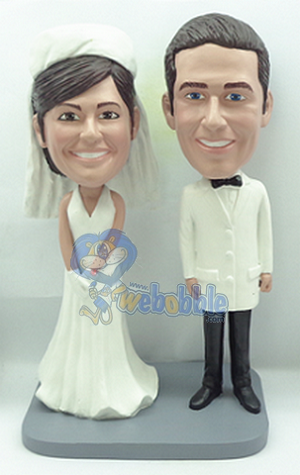 Wedding couple NEW custom bobblehead doll