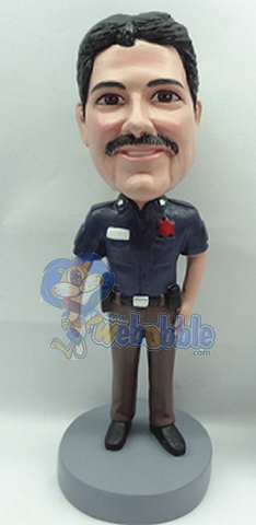 Police man personalized bobblehead doll 4